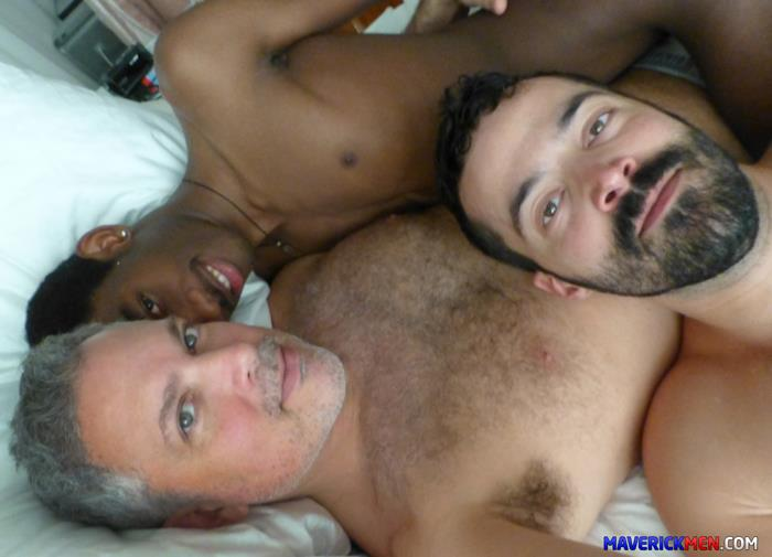 Maverick-Men-Black-Boy-Chris-Ryder-Gets-Barebacked-By-Hairy-Muscle-Daddies-Amateur-Gay-Porn-4 Maverick Men Bareback Tag Team & Double Penetrate A Black Twinks Ass