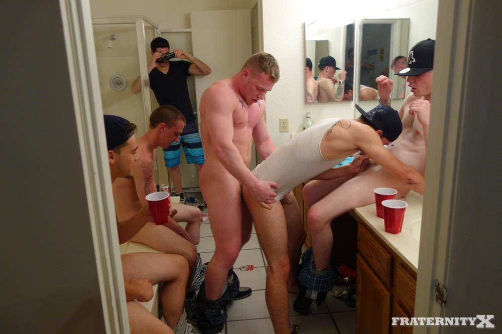 Fraternity-X-Anthony-and-Brad-Freshman-Getting-Barebacked-By-Frat-Guys-Amateur-Gay-Porn-01 Straight Freshman Gets Barebacked Gang Banged At Frat Party