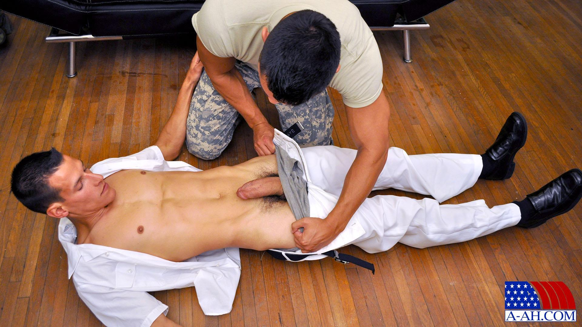 Real straight army men doing gay porn first