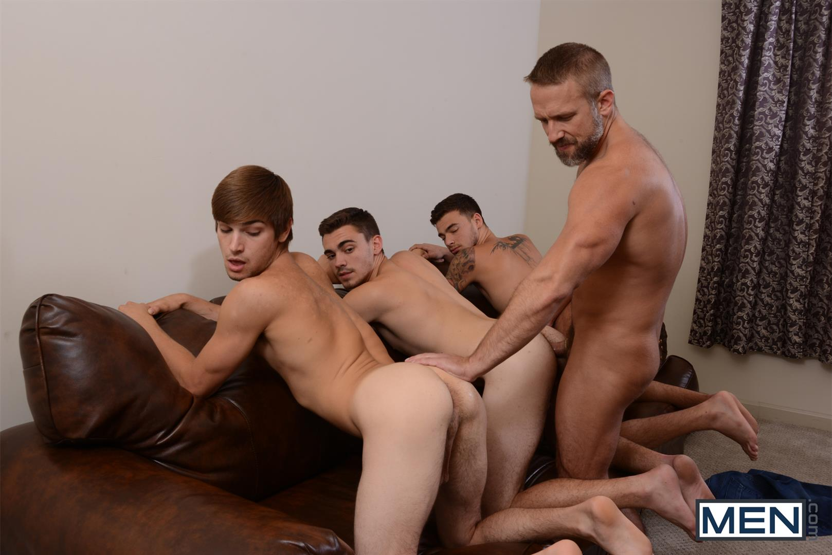 Men-Jizz-Orgy-Asher-Hawk-and-Dirk-Caber-and-Johnny-Rapid-and-Trevor-Spade-Triple-Penetrated-In-the-Ass-Amateur-Gay-Porn-13 Stepfather Dirk Caber Gets TRIPLE Penetrated By His Stepsons
