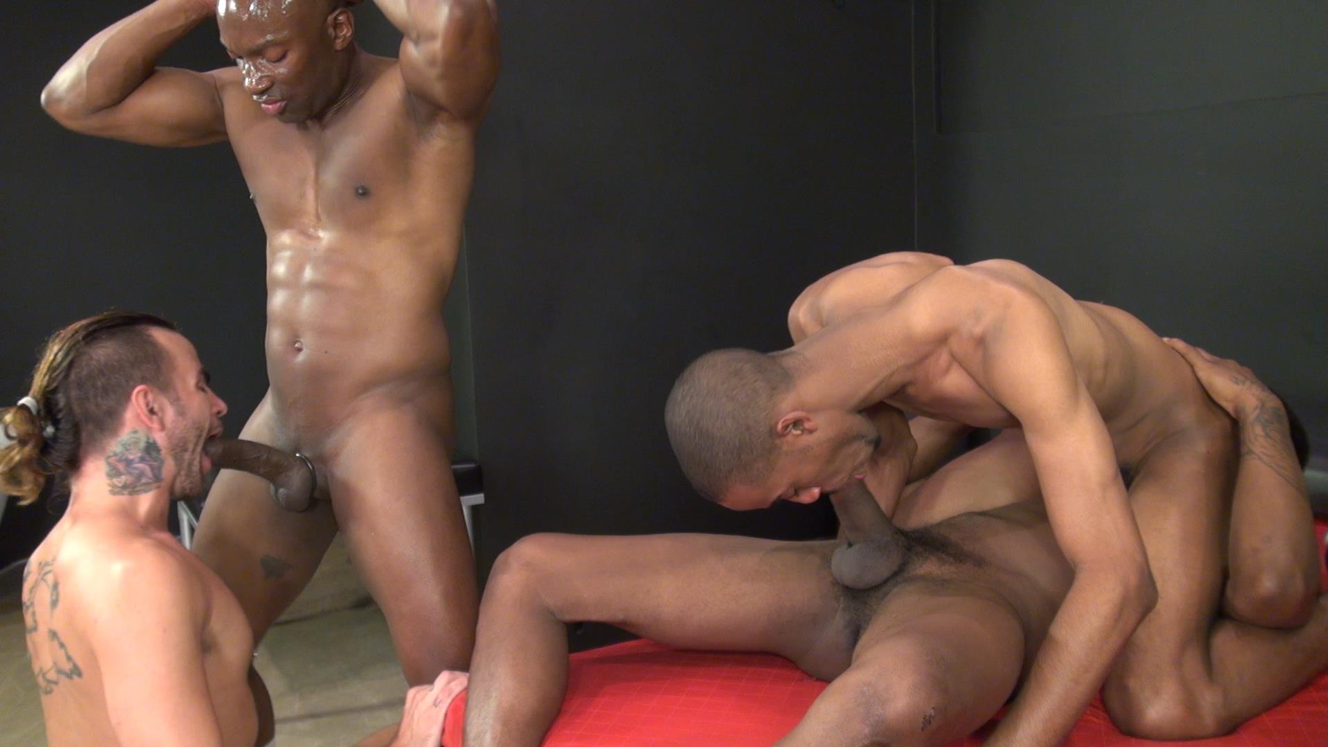 Rough ebony gay sex