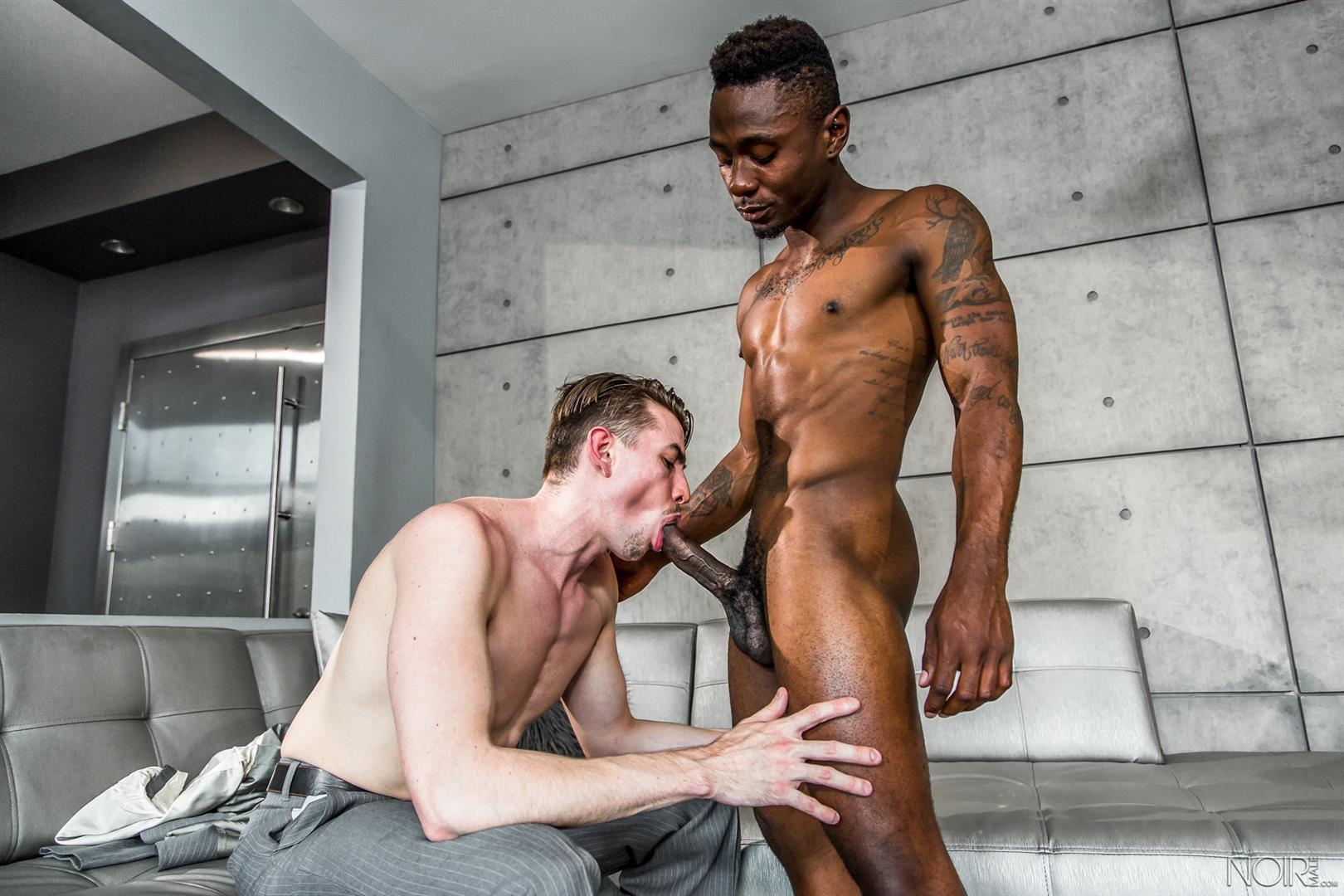 Noir-Male-Jack-Hunter-and-Miller-Axton-Big-Black-Dick-Interracial-Gay-Sex-Video-06 Jack Hunter Gets A Mouthful Of Cum From A Big Black Cock